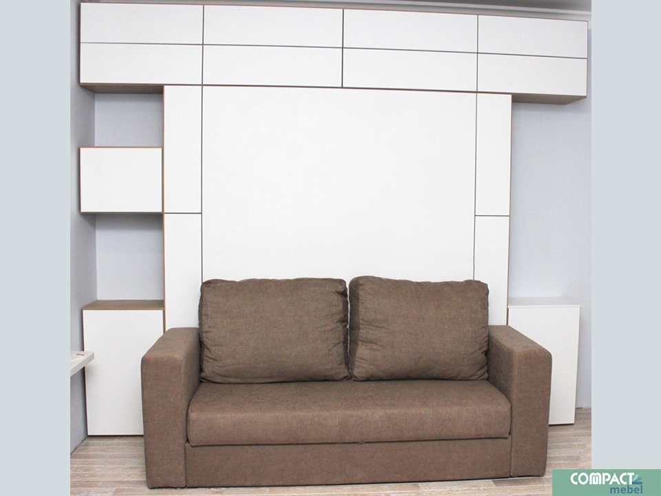 Шкаф-кровать трансформер 3 в 1 для студии 16 м2 в г.Москве