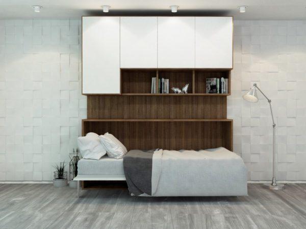 Горизонтальная шкаф-кровать трансформер