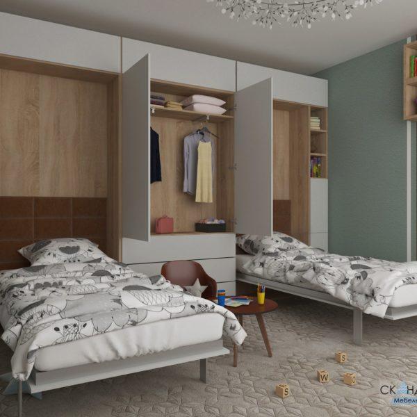 мебель трансформер шкаф кровать скандинавия