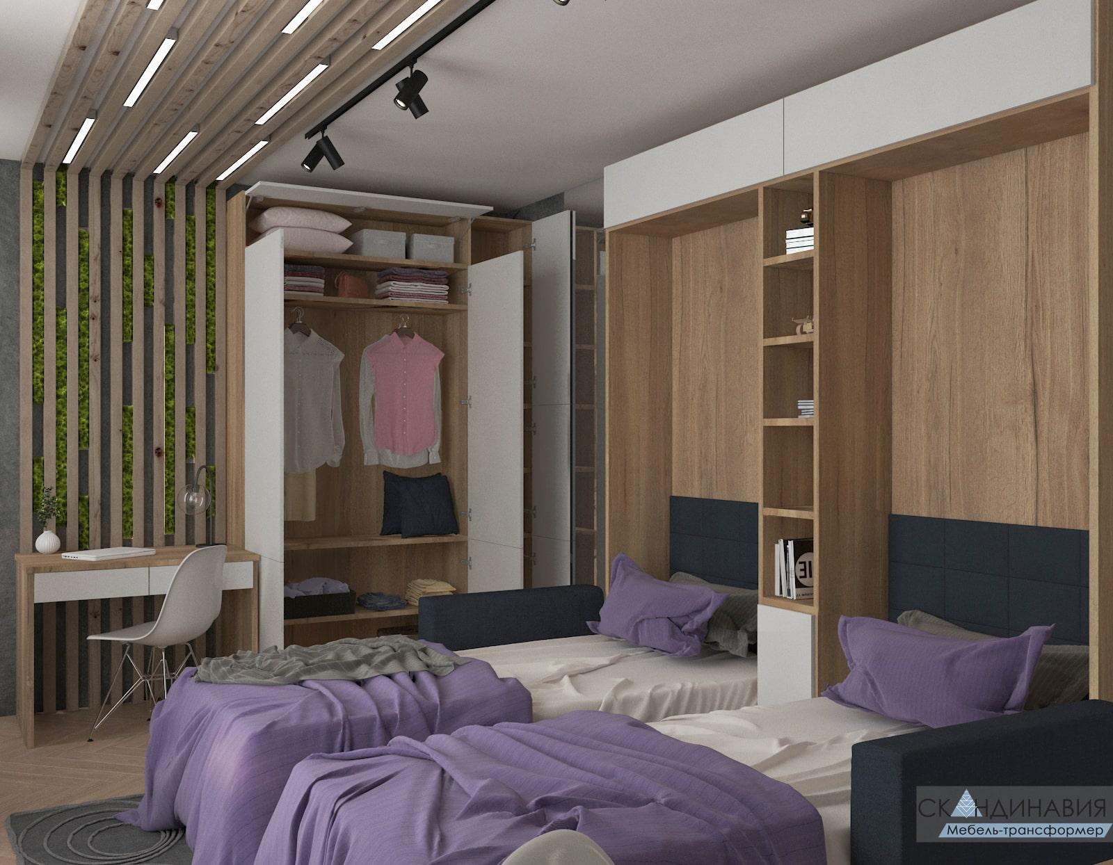 Мебель на заказ — Кровать трансформер