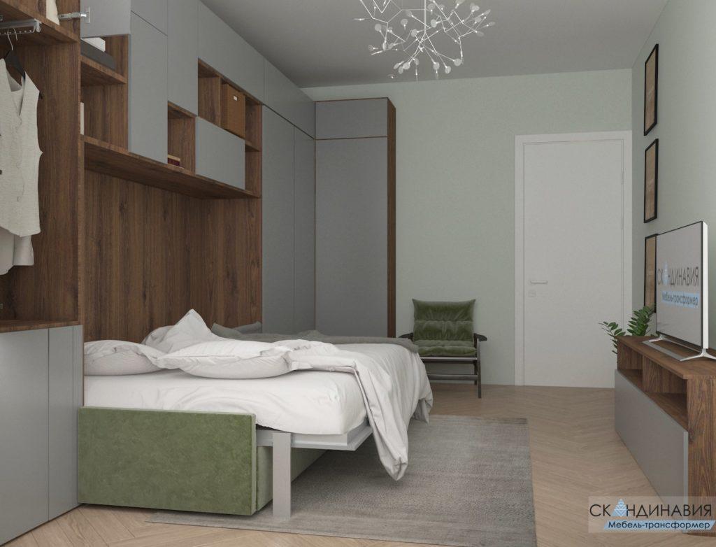 шкаф кровать трансформер скандинавия
